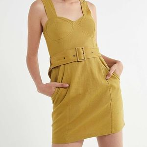 NWOT Urban Outfitters Angelique Belted Linen Dress